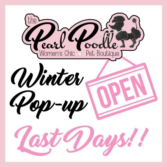 There are only 3 days left in our Winter Pop-up! We will be closing the shop after Saturday and will not reopen until our Spring pop-up (date TBA). We will be launching our website within the coming weeks so you'll be able to shop online, but make sure you stop by the store before it closes to shop in person! 😍🐩 Hours for Last Days: TODAY - 10 AM to 6 PM TOMORROW - 10 AM to 6 PM SATURDAY - 10 AM to 4 PM